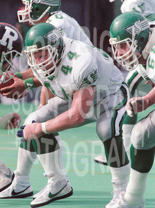 Roger Aldag Saskatchewan Roughriders. Copyright photograph Scott Grant
