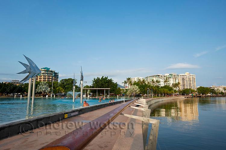 View along the Esplanade beside the Lagoon.  Cairns, Queensland, AUSTRALIA