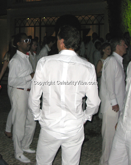 **EXCLUSIVE**.Prince Andrew with Nadia Boejna dancing and kissing all night at a Claude Ott's White Private Party in a Villa in St. Tropez, France..Friday, July 25, 2008..Photo By CelebrityVibe.com.To license this image please call (212) 410 5354; or Email: celebrityvibe@gmail.com ;.website: www.celebrityvibe.com