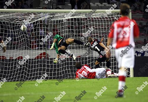 2009-08-29 / Voetbal / seizoen 2009-2010 / Antwerp FC - FC Brussels / Kevin Oris spurt scoort zijn eerste doelpunt voor Antwerp..Foto: Maarten Straetemans (SMB)