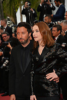 Anthony Vaccarello &amp; Isabelle Huppert at the gala screening for &quot;Sink or Swim&quot; at the 71st Festival de Cannes, Cannes, France 13 May 2018<br /> Picture: Paul Smith/Featureflash/SilverHub 0208 004 5359 sales@silverhubmedia.com