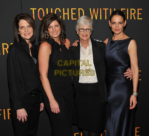 New York,NY-FEBRUARY 10: Tamera Holmes, Holly Ann Holmes, Kathleen Stothers-Holmes, Katie Holmes attend the 'Touched With Fire' New York premiere at Walter Reade Theater on February 10, 2016 in New York City. <br /> CAP/MPI/STV<br /> &copy;STV/MPI/Capital Pictures