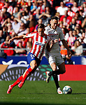 Atletico de Madrid's Marcos LLorente and Sevilla FC's Lucas Ocampos competes for the ball during La Liga match. Mar 07, 2020. (ALTERPHOTOS/Manu R.B.)