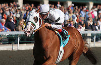 Will Take Charge and Jon Court win the 7th race Maiden $50,000 for 2 year old colts.   October 18, 2012. (( Special transmission of horses in the Top 25 for points for the 2013 KentuckyDerby ))