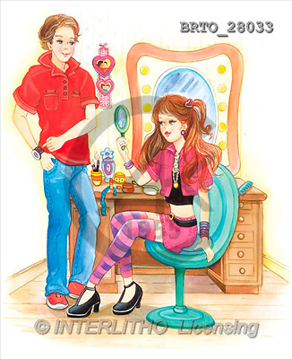 Alfredo, TEENAGERS, paintings(BRTO28033,#J#) Jugendliche, jóvenes, illustrations, pinturas ,everyday