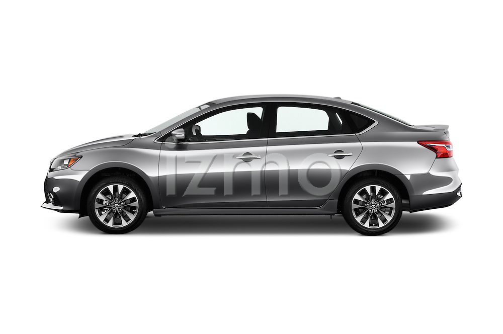 Car Driver side profile view of a 2017 Nissan Sentra SR 4 Door Sedan Side View