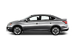 Car Driver side profile view of a 2016 Nissan Sentra SR 4 Door Sedan Side View