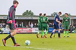 17.05.2018, Stadion am Auetal, Ahlerstedt, GER, FSP, Auswahl Ahlerstedt / Ottendorf vs SV Werder Bremen<br /> <br /> im Bild<br /> Robert Bauer (Werder Bremen #04) und Milot Rashica (Werder Bremen #11) bejubeln 3:8 durch Rashica, Yuning Zhang (Werder Bremen #19), <br /> <br /> Foto &copy; nordphoto / Ewert
