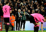 Gordon Strachan manager of Scotland gees up his players during the FIFA World Cup Qualifying Group F match at Wembley Stadium, London. Picture date: November 11th, 2016. Pic David Klein/Sportimage