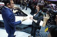 Carlos Ghosn, Nissan Motor president at Tokyo Motor show in Nov 2013 in Tokyo, Japan