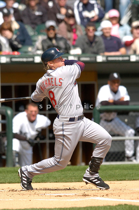 JASON MICHAELS, of the Cleveland Indians, during their game on April 5, 2006 against the Chicago White Sox...CHRIS BERNACCHI/ SPORTPICS