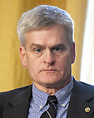 """United States Senator Bill Cassidy (Republican of Louisiana) listens during a US Senate Committee on Finance hearing on """"Individual Tax Reform"""" on Capitol Hill in Washington, DC on Thursday, September 14, 2017.<br /> Credit: Ron Sachs / CNP"""