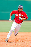 Rio Ruiz #8 of Babe Ruth hustles towards third base against PONY at the 2011 Tournament of Stars at the USA Baseball National Training Center on June 25, 2011 in Cary, North Carolina.  Babe Ruth defeated PONY by the score of 10-9. (Brian Westerholt/Four Seam Images)