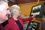 Photograghed at Miltown Secondary School 50th anniversary were Coleman and Joan Barrett admiring some old photographs.<br /> Photograph Sally MacMonagle.