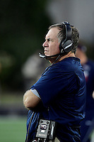 Thursday August 11, 2016: New England Patriots head coach Bill Belichick watches the action on the field during an NFL pre-season game between the New Orleans Saints and the New England Patriots held at Gillette Stadium in Foxborough Massachusetts. The Patriots defeat the Saints 34-22 in regulation time. Eric Canha/CSM