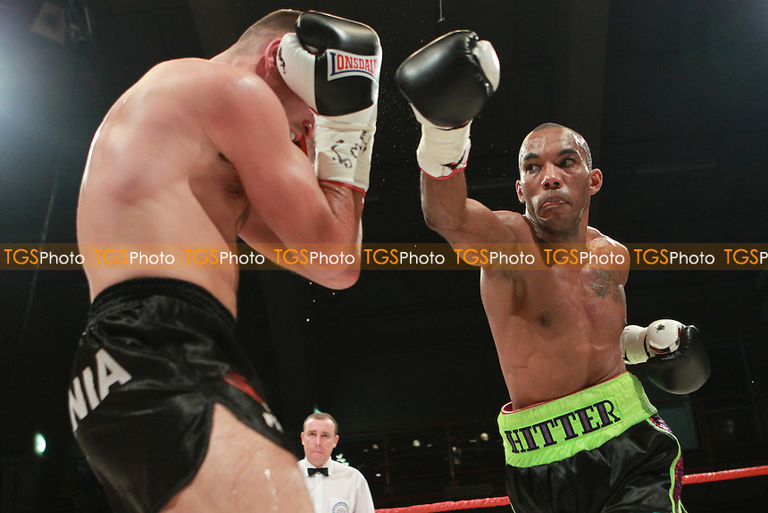 Junior Witter vs Arvydas Triznd in a boxing contest at Kings Hall, Belfast, promoted by Hennessy Sports - 17/09/11 - MANDATORY CREDIT: Chris Royle/TGSPHOTO - Self billing applies where appropriate - 0845 094 6026 - contact@tgsphoto.co.uk - NO UNPAID USE..