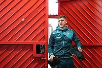 Alfie Mawson of Swansea City arrives at Old Trafford prior to the Premier League match between Manchester United and Swansea City at the Old Trafford, Manchester, England, UK. Saturday 31 March 2018