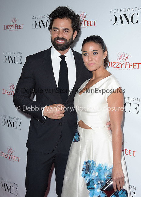 Emmanuelle Chriqui and Adrian Bellani attends The Dizzy Feet Foundation 5th Annual 'Celebration of Dance Gala'  held at Club Nokia in Los Angeles, California on August 01,2015                                                                               © 2015 Hollywood Press Agency