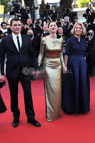 Alex Brendemuehl, Marion Cotillard, Nicole Garcia and <br /> Louis Garrel at the &acute;Mal de Pierres` screening during The 69th Annual Cannes Film Festival on May 15, 2016 in Cannes, France.<br /> CAP/LAF<br /> &copy;Lafitte/Capital Pictures /MediaPunch ***NORTH AND SOUTH AMERICA ONLY***