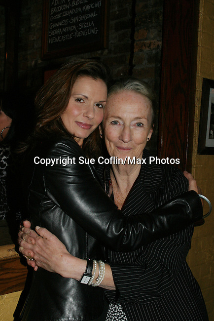"General Hospital Florencia Lozano (OLTL), Kathleen Chalfant (AMC) and  star in ""Red Dog Howls"" as it opens on September 24, 2012 at New York Theatre Workshop in New York City, New York with the after party at Phebe's.  (Photo by Sue Coflin/Max Photos)"