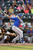 St. Lucie Mets third baseman Jhoan Urena (13) at bat during a game against the Bradenton Marauders on April 11, 2015 at McKechnie Field in Bradenton, Florida.  St. Lucie defeated Bradenton 3-2.  (Mike Janes/Four Seam Images)