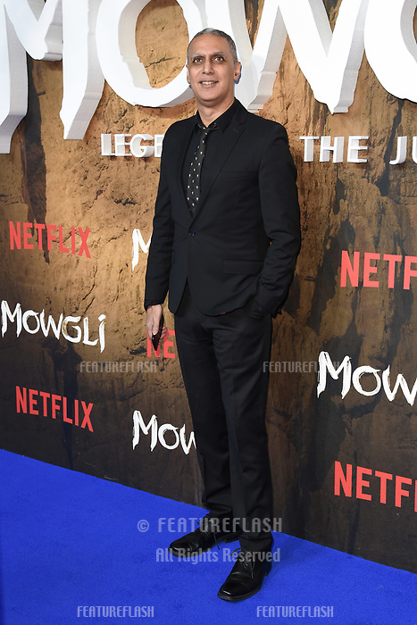 LONDON, UK. December 04, 2018: Nitin Sawhney at the&quot;Mowgli: Legend of the Jungle&quot; premiere at the Curzon Mayfair, London.<br /> Picture: Steve Vas/Featureflash