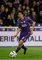 Calcio, Coppa Italia: semifinale di ritorno Fiorentina vs Juventus. Firenze, stadio Artemio Franchi, 7 aprile 2015. <br /> Fiorentina's Matias Fernandez in action during the Italian Cup semifinal second leg football match between Fiorentina and Juventus at Florence's Artemio Franchi stadium, 7 April 2015.<br /> UPDATE IMAGES PRESS/Isabella Bonotto