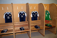 Scotland shirts on display in the dressing room pre-match during England Under-18 vs Scotland Under-20, Toulon Tournament Semi-Final Football at Stade Parsemain on 8th June 2017