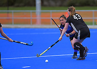 Action from the women's division two Manawatu Hockey match between Athletic and College Development at Massey University in Palmerston North, New Zealand on Saturday, 18 July 2020. Photo: Dave Lintott / lintottphoto.co.nz