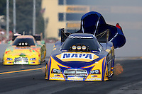 Oct 6, 2013; Mohnton, PA, USA; NHRA funny car driver Ron Capps during the Auto Plus Nationals at Maple Grove Raceway. Mandatory Credit: Mark J. Rebilas-