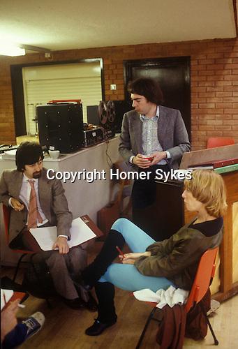 Trevor Nunn Andrew Lloyd Webbe Gillian Lynne  ( Cameron Mackintosh out of image, just hand bottom left.) London England circa 1980