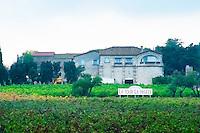 Domaine La Tour La Pageze. La Clape. Languedoc. The villa. The main building. France. Europe.