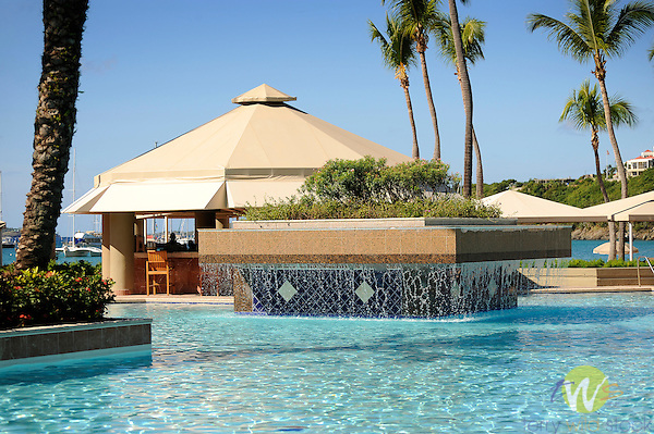 Westin Resort and Villas swimming pool, St. John, USVI, Caribbean.