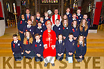 Principal Terry O'Sullivan's  Sixth class students from Blennerville NS were confirmed by Bishop Ray Browne and Fr. Francis  at St. John's Church Tralee on Friday