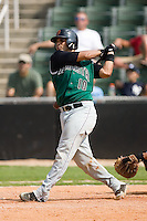 Augusta catcher Henry Gutierrez (10) follows through on his swing versus Kannapolis at Fieldcrest Cannon Stadium in Kannapolis, NC, Monday, September 3, 2007.