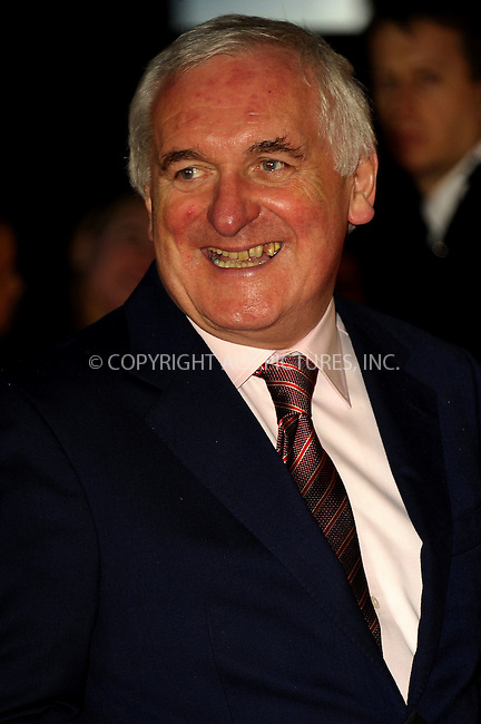 WWW.ACEPIXS.COM<br /> <br /> US SALES ONLY<br /> <br /> October 6, 2014, London, England<br />  <br /> Bertie Ahern arriving at the World Premiere of 'Love, Rosie' held at Odeon West End on October 6, 2014 in London, England.<br /> <br /> By Line: Famous/ACE Pictures<br /> <br /> ACE Pictures, Inc<br /> Tel: 646 769 0430<br /> Email: info@acepixs.com