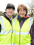 Tanya Doyle and Liz Rafferty who took part in the 5k walk/run from An Grianan in aid of St Mary's special school Drumcar. Photo:Colin Bell/pressphotos.ie