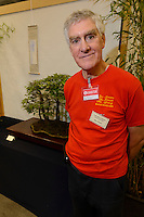 Ray Ward, Vice Chairman of the Federation of British Bonsai societies, Hyper Japan 2014, Earls Court, London, UK, July 25, 2014. Hyper Japan is the UK's largest Japanese culture event. It took place at the Earls Court exhibition space from 25 to 27 July 2014.