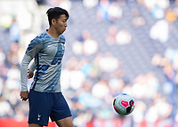 Son Heung-Min of Tottenham Hotspur warms up before during the Premier League match between Tottenham Hotspur and Crystal Palace at Wembley Stadium, London, England on 14 September 2019. Photo by Vince  Mignott / PRiME Media Images.