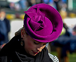 November 3, 2018 : A woman wears a fancy pink fascinator on Breeders Cup World Championships Saturday at Churchill Downs on November 3, 2018 in Louisville, Kentucky. Bill Denver/Eclipse Sportswire/CSM