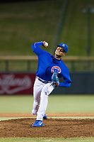 AZL Cubs relief pitcher Danis Correa (71) delivers a pitch to the plate against the AZL Mariners on August 4, 2017 at Sloan Park in Mesa, Arizona. AZL Cubs defeated the AZL Mariners 5-3. (Zachary Lucy/Four Seam Images)