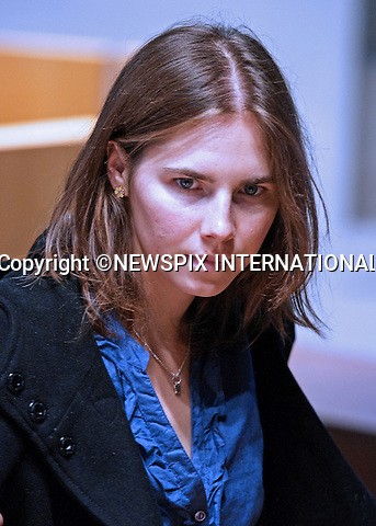 "AMANDA KNOX.Amanda Knox together with her former boyfriend Raffaele Sollecito are charged with involvement in the murder of 21-year-old London student Meredith Kercher on 1 November 2007..The pair had been sentenced in 2009 to 26 years over their involvement in the murder of Miss Kercher, Perugia, Italy_30/09/2011.Mandatory Credit Photo: ©Sestini/NEWSPIX INTERNATIONAL..**ALL FEES PAYABLE TO: ""NEWSPIX INTERNATIONAL""**..IMMEDIATE CONFIRMATION OF USAGE REQUIRED:.Newspix International, 31 Chinnery Hill, Bishop's Stortford, ENGLAND CM23 3PS.Tel:+441279 324672  ; Fax: +441279656877.Mobile:  07775681153.e-mail: info@newspixinternational.co.uk"