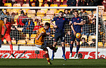 17.02.2019: Motherwell v Hearts: David Turnbull scores from a free-kick right at the end to win the game for Motherwell