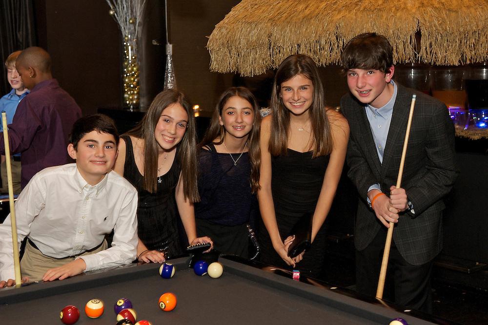 Playing billiards at a Bar Mitzvah at Slate NY