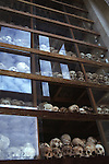 Remains from those massacred in Cambodia's Killing Fields