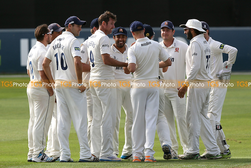 David Masters of Essex is congratulated on taking the wicket of Rob Key - Essex CCC vs Kent CCC - LV County Championship Division Two Cricket at the Essex County Ground, Chelmsford, Essex - 09/09/14 - MANDATORY CREDIT: Gavin Ellis/TGSPHOTO - Self billing applies where appropriate - contact@tgsphoto.co.uk - NO UNPAID USE