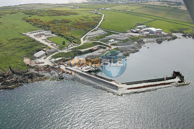 An Ariel view of Port Oriel and Clogherhead.Photo NEWSFILE/FRAN CAFFREY..(Photo credit should read FRAN CAFFREY/NEWSFILE)...This Picture has been sent you under the condtions enclosed by:.Newsfile Ltd..the Studio,.Millmount Abbey,.Drogheda,.Co Meath..Ireland..Tel: +353(0)41-9871240.Fax: +353(0)41-9871260.GSM: +353(0)86-2500958.email: pictures@newsfile.ie.www.newsfile.ie.FTP: 193.120.102.198..This picture is from Fran Caffrey@newsfile.ie