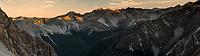 Sunset on St. Arnaud Range, Nelson Lakes National Park, South Island, New ZEaland, NZ