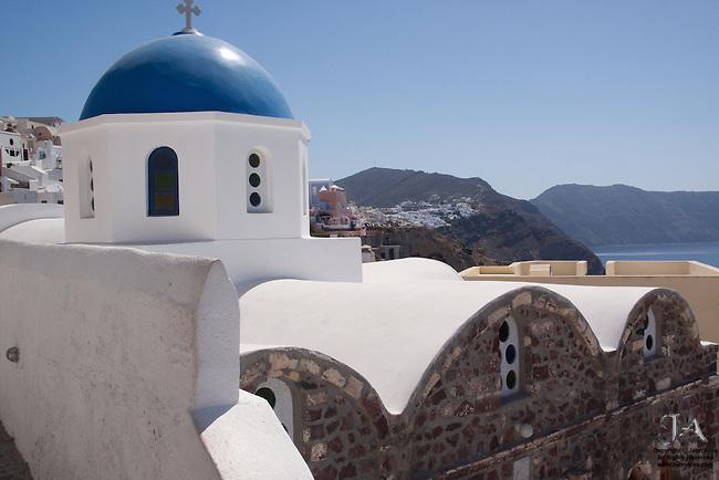 Blue Dome Church in Oia