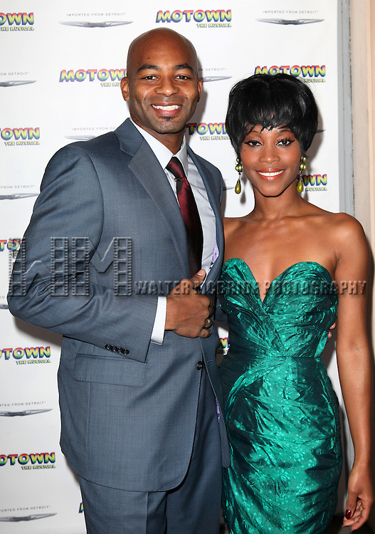 Brandon Victor Dixon and Valisia LeKae attending the Broadway World Premiere Launch for 'Motown: The Musical' at the Nederlander in New York. Sept. 27, 2012